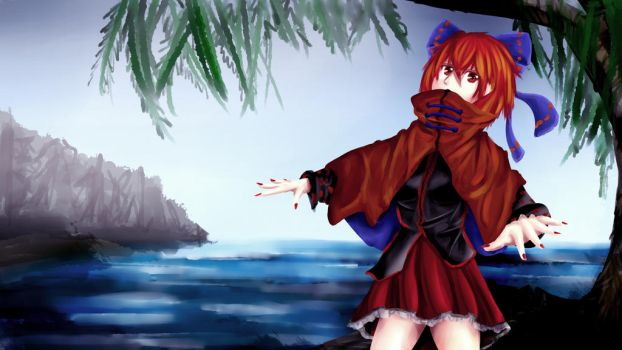 Sekibanki by the Misty Lake by Karias-K