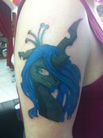My second Queen Chrysalis Tattoo by GrayTheZebra