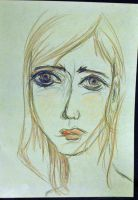 sad girl by thorneater
