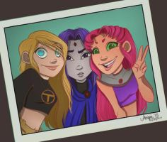 The Girls of Teen Titans by caligrl7072