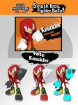 Super Smash Bros. Knuckles Ballot by InfamousSubZero