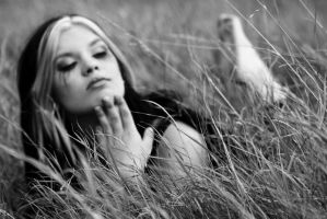 angel on grass by SabienDeMonia