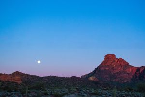 Arizona Moonrise by charlesheadphotos