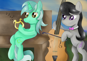 Lyra and Octavia by almaustral