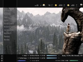 Skyrim Themed Rainmeter Skin 28.11.2011 by Axerron