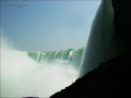 Bottom of Niagara Falls by Ivienn