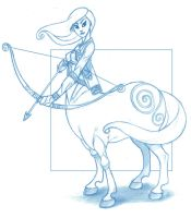 Female Centaur by KingOlie