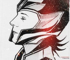 Loki Laufeyson traditional animation by Farbenfrei