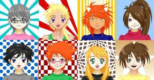 Chaotic Character Icons by DiamondHeart31