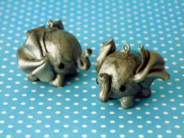 Elephant Charms by NattoProductions