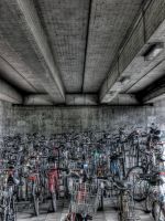 Bicycle Parking Lot -HDR- by kinkowski