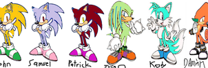 Cool Sonic Bully Gang by koolshadow77
