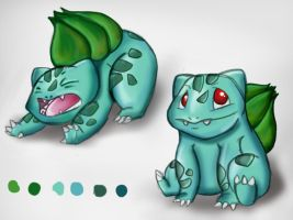 Bulbasaur Sketches by INeedMyCoffee