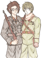 Roderich and Ivan WWII style by RotenDrache