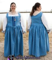 Blue 16th Century Dress by DaisyViktoria