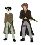 Fallout Equestria Influx humanized characters by glue123