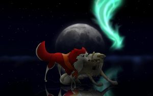 Balto and Jenna Moonlight by Sudak