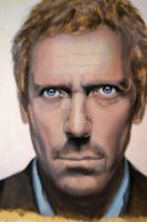 Hugh Laurie painting, progress by corienb