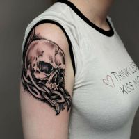 Custom Celtic Skull Tattoo  by sHavYpus
