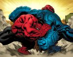 Red Hulk meets A Bomb by EdMcGuinness