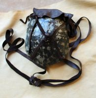 Turtle shell and deerskin bag by lupagreenwolf