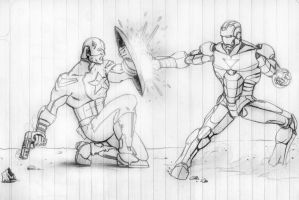 Civil War shool sketch by dartbaston