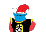 King Kai with Santa hat by Simpsonsfanatic33