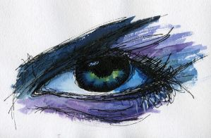 Water Colour Eye by shainarichelle