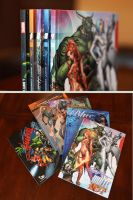5 HC set: Orange, Green, Blue, White and Black by J-Scott-Campbell