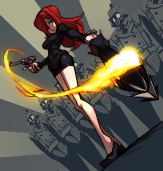 Parasoul Action Portrait by oh8