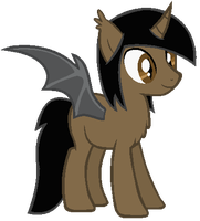 [DOLL] Golden Nights as a Bat pony by LR-Studios