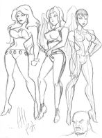 Bruce Timm DC girls 2 by AllPat