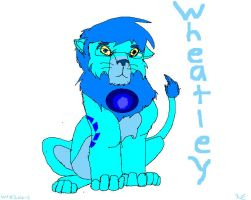 Wheatley as a lion by Wolvestorms