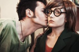 Daria and Trent kiss - Daria cosplay by LuckyStrikeCosplay