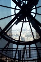 Big Clock, in the background, Montmartre by Gragalit