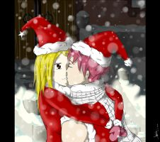 NaLu - Christmas Kiss ! by lllKaiten