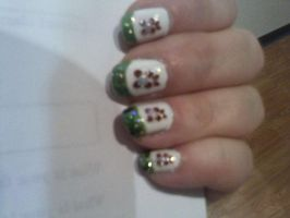 Nailartxmasflower by CarpeComma