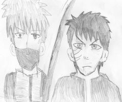 Kakashi and Obito Reunite by Fran48