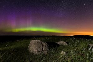 Rocks and Auroras by MarshallLipp