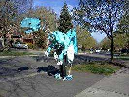 Blue Eyes White Dragon Cosplay: Near Completion by KitKatJackster