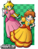 Peach and Daisy by ninjatron