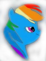 Rainbow Dash :Colored: by TeamNoah