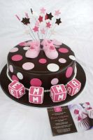 Pink Shoe cake by Verusca