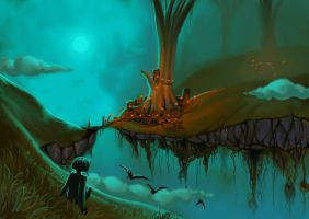The Floating Islands by Everblue44