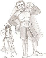 Orc Cleric and Gunslinger by froggieg