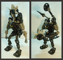 Bionicle MOC - Toa Kaku by Alex-Darkrai
