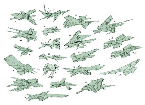 Spaceship thumbnails by Hideyoshi