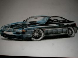 BMW 850i by Renet555