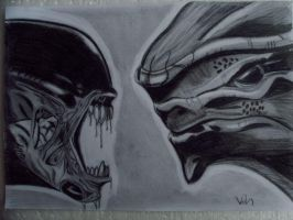 Alien Vs Krogan by VirtualDarkside