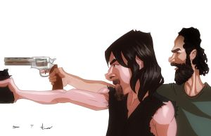 The Walking Dead : Dixon and Grimes by DevonneAmos